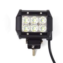10pcs 18W led driving light 18W LED Light Bar Spot Flood 12 volt 4 Inch LED work light bar 4×4