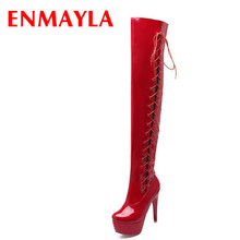 Lace-Up Over-the-Knee Boots Sexy Women Thin Heels long Shoes Big Size 34-43 Fashion Casual women Boots Pumps new Winter  morazora 2018 new arrive over the knee boots fashion shoes cow suede thin heels boots top quality womens boots big size 34 41
