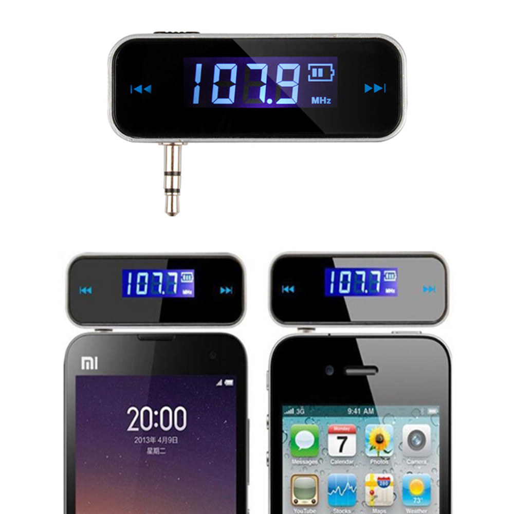 Mini Universal Transmitter 3.5mm AUX Jack Music FM Audio Transmitter For iPhone 4 5 6 6S Plus Samsung iPad Car MP3 Transmit