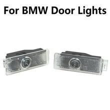 2X para BMW Serie 3 5 7 E65 E66 F01 F02 E92 M3 E90 F10 F30 E60 M5 X1 X3 X4 X5 X6 coche Led proyector de luz para puerta logotipo Bienvenido Luz