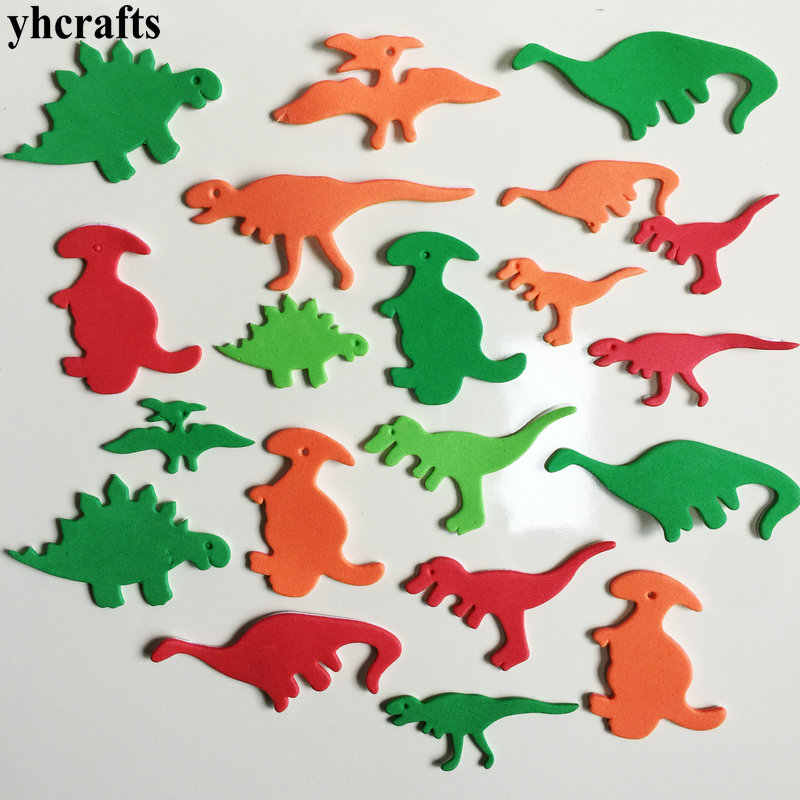 38PCS/LOT.Colorful dinosaur foam stickers kindergarten crafts Activity items Baby room ornament Early learning craft diy toys