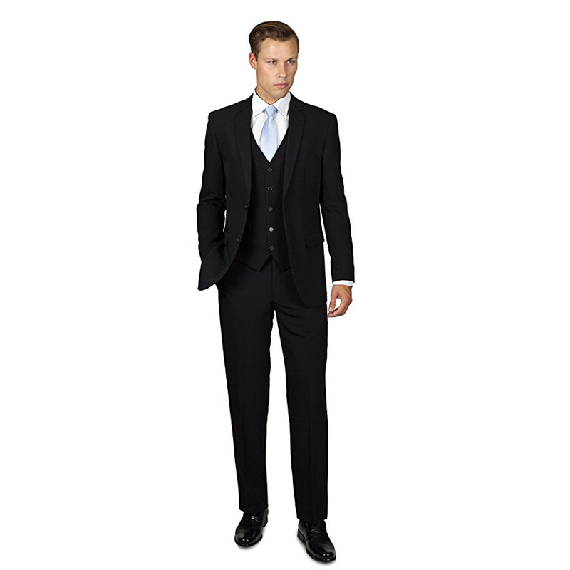 348 Custom Made Men\`s Three Piece Two Button Groom Groomsmen Suit Formal Best Man Business Tuxedos Men Suits (Jacket+Pants) F348