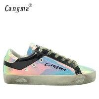 CANGMA Luxe Merk Sneakers Internationale Mannelijke Schoenen Echt Leer Multicolour Platte Mannen Ademende Big Size Handgemaakte Schoenen