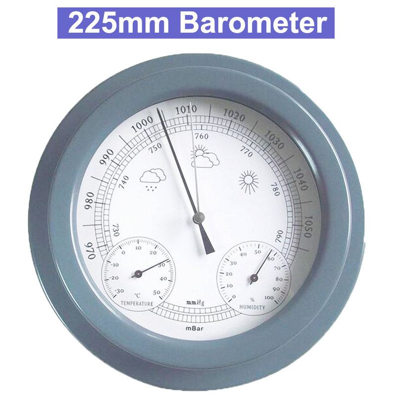european style 22 5cm thermometer hygrometer barometer weather station 9 225mm Weather Station Barometer Thermometer Hygrometer Wall Hanging Tester Tools Air weather Instrument Barometers