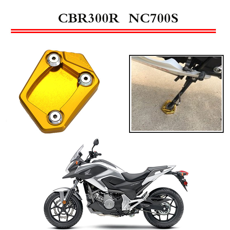 Kickstand Foot Side Stand Extension Pad Support Plate For HONDA NC700S NC700X NC700D NC700 S X Integra 2012 2013 2014 2015 цена