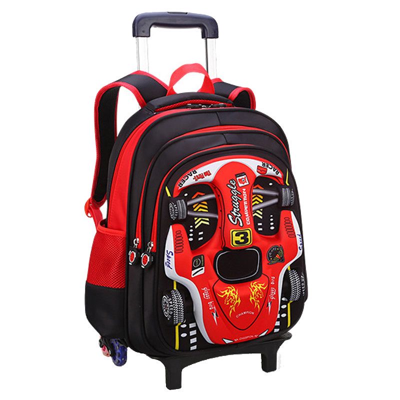 3D Climb the stairs luggage cartoon Stationery bag students suitcase Removable Children travel backpack 5-9 years boy school bag3D Climb the stairs luggage cartoon Stationery bag students suitcase Removable Children travel backpack 5-9 years boy school bag