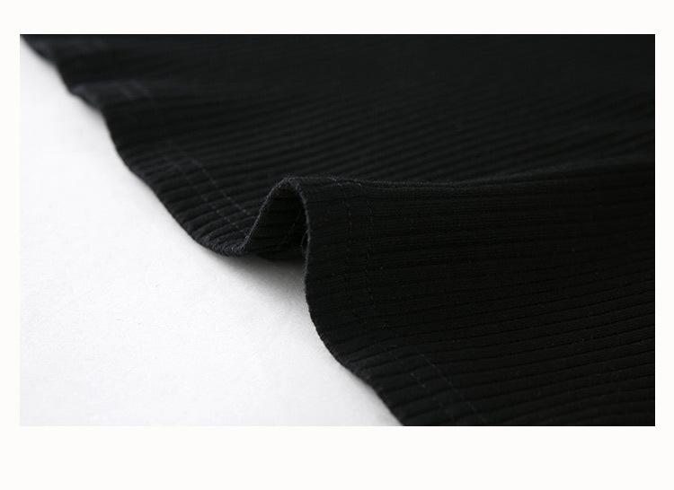 HTB1crbsQFXXXXb3XpXXq6xXFXXXG Slim Crop Top Halter White Black