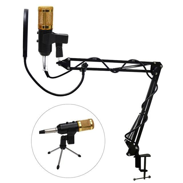 MK F200FL профессиональный конденсаторный микрофон с держателем подставка поп-фильтр для компьютера USB аудио студия вокальная запись Microfono