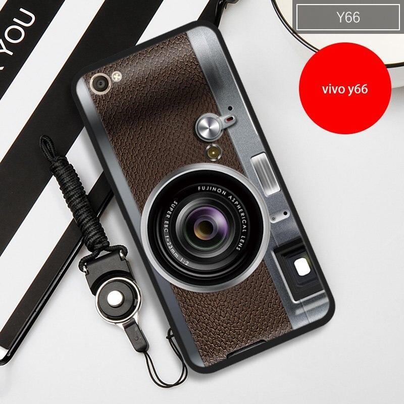Винтаж Камера магнитная лента роспись чехла для телефона <font><b>VIVO</b></font> <font><b>Y66</b></font>-5.5 &#171;-крышка <font><b>VIVO</b></font> <font><b>Y66</b></font> (подарок шнурки)