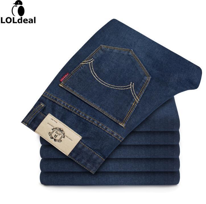 2016 Korean Version Small Straight Elastic Force Mid Waist Slim Multicolor Men S Jeans