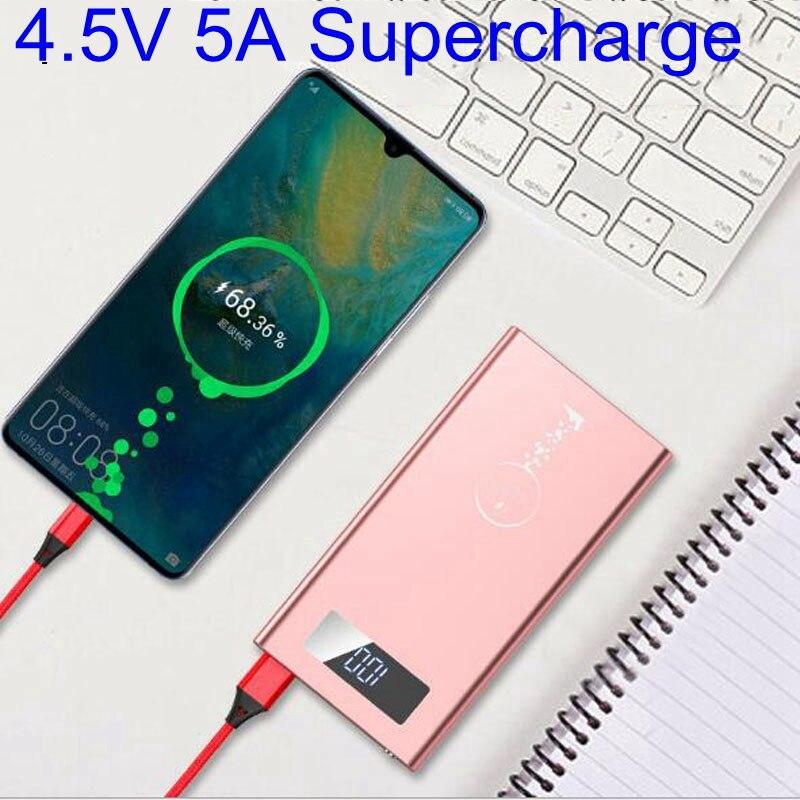 20000 mah batterie externe 20000 mah Supercharge 5A FCP 9 V 2A pour Huawei P20 Pro Mate 10 P10 Plus Super chargeur adaptateur