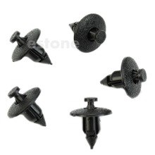 10PcsPlastic Rivet Fastener 8mm Hole Dia Fastener Fender Bumper Push Pin Clip for Nissan