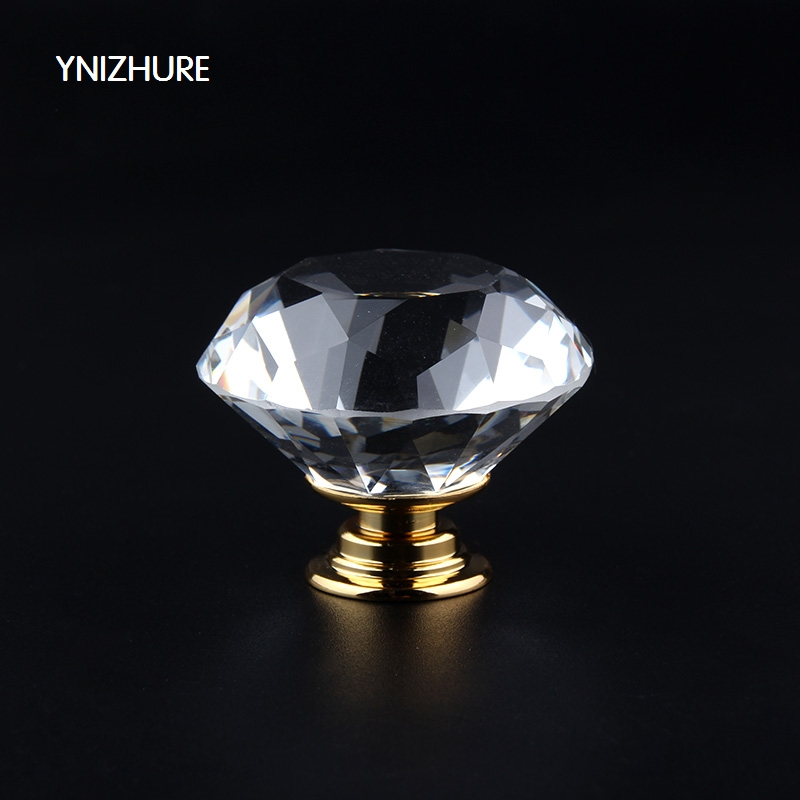 10pcs 40mm Diamond Door New Transparent Crystal Glass Pull Drawer Cabinet Furniture Handle Knob Screw Hot Worldwide Gold Base 40mm diamond shape crystal glass door handle knob with screws for furniture drawer cabinet kitchen pull handle wardrobe