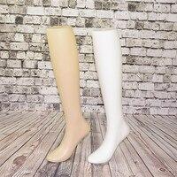 1 шт. женские ноги носки ноги манекена формы для отображения обуви и носки ноги модель пластиковые ноги манекена дисплей для длинных носков