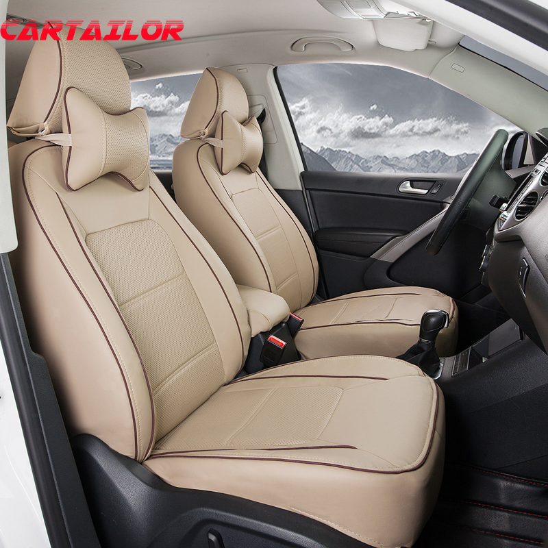 CARTAILOR Cover Car Seat Protection Fit For Infiniti Qx60 PU Leather Custom Black Covers Supports Airbags
