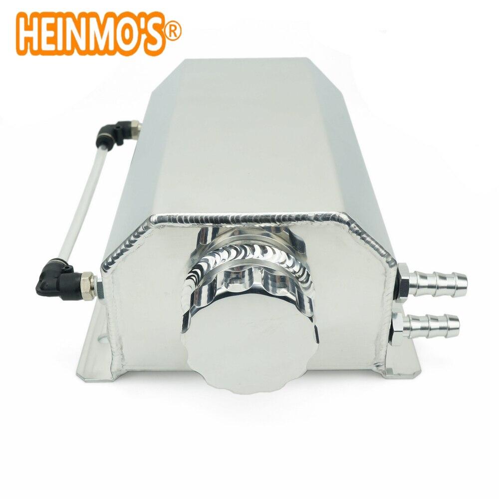 Универсальный 2 литровый маслоуловитель с сливной вилкой 2000 мл резервуар масляный бак может серебристый