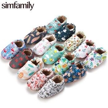 [Simfamily] enfant filles garçon premiers marcheurs doux infantile bambin chaussures mignon fleur semelles berceau chaussures pour nouveau-nés bébé chaussures