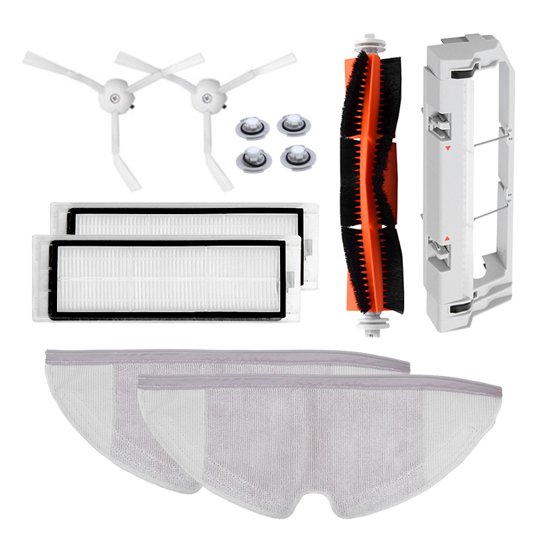 Vacuum Cleaner Spare Parts Kits Suitable for Xiaomi Roborock Robot S50 S51 Mop Cloths Wet Mopping filter Side Brush Roll Brush цена и фото