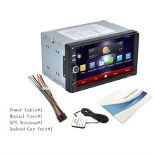 Cimiva RK-7721A Professional 7 Inch HD 1024*600 Capacitive Screen 7 Colorful Light Function Car DVD MP3 Player Android5.1.1