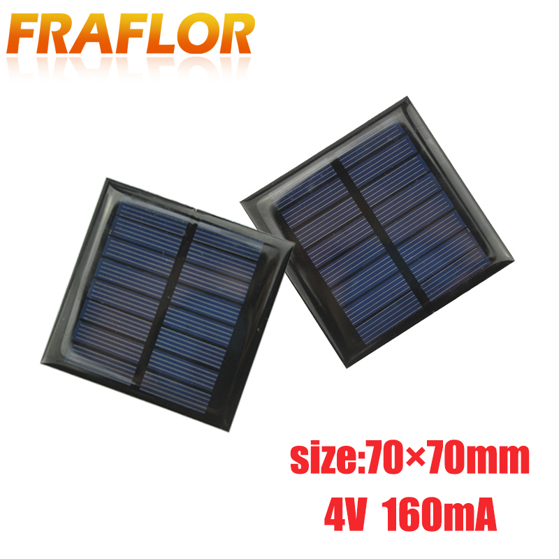 JIANG Solar Battery Charger Flexible Thin Film Solar Panel Module DIY 1W 6V Cell Rechargeable Battery Transparent