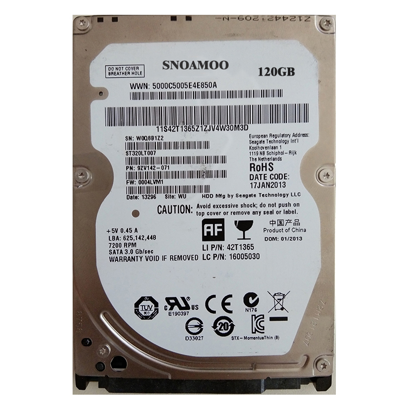 все цены на SNOAMOO Used Internal hard drive 120GB Sata 150MB/s 2.5' inch hard disk SATA HDD2mb/8mb 5400RPM-7200RPM For Laptop Notebook онлайн