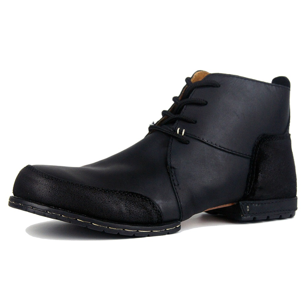 OTTO Top quality handmade boots rivet winter boots with fur genuine cow leather men s Fashion