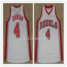 216cda8ccf1  4 LARRY JOHNSON  50 Greg ANTHONY  32 Stacey AUGMON UNLV RUNNIN REBELS  throwback college basketball jerseys Customize any size n-in Basketball  Jerseys from ...