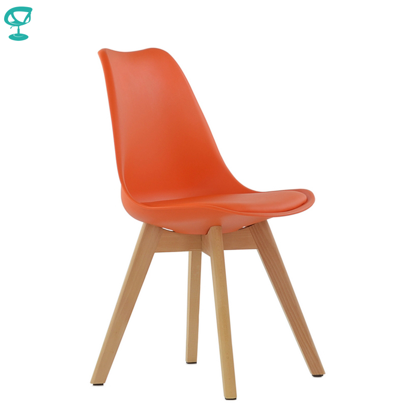 95276 Barneo N-12-2 Plastic Wood Kitchen Interior Stool Bar Chair Kitchen Furniture Orange Free Shipping In Russia