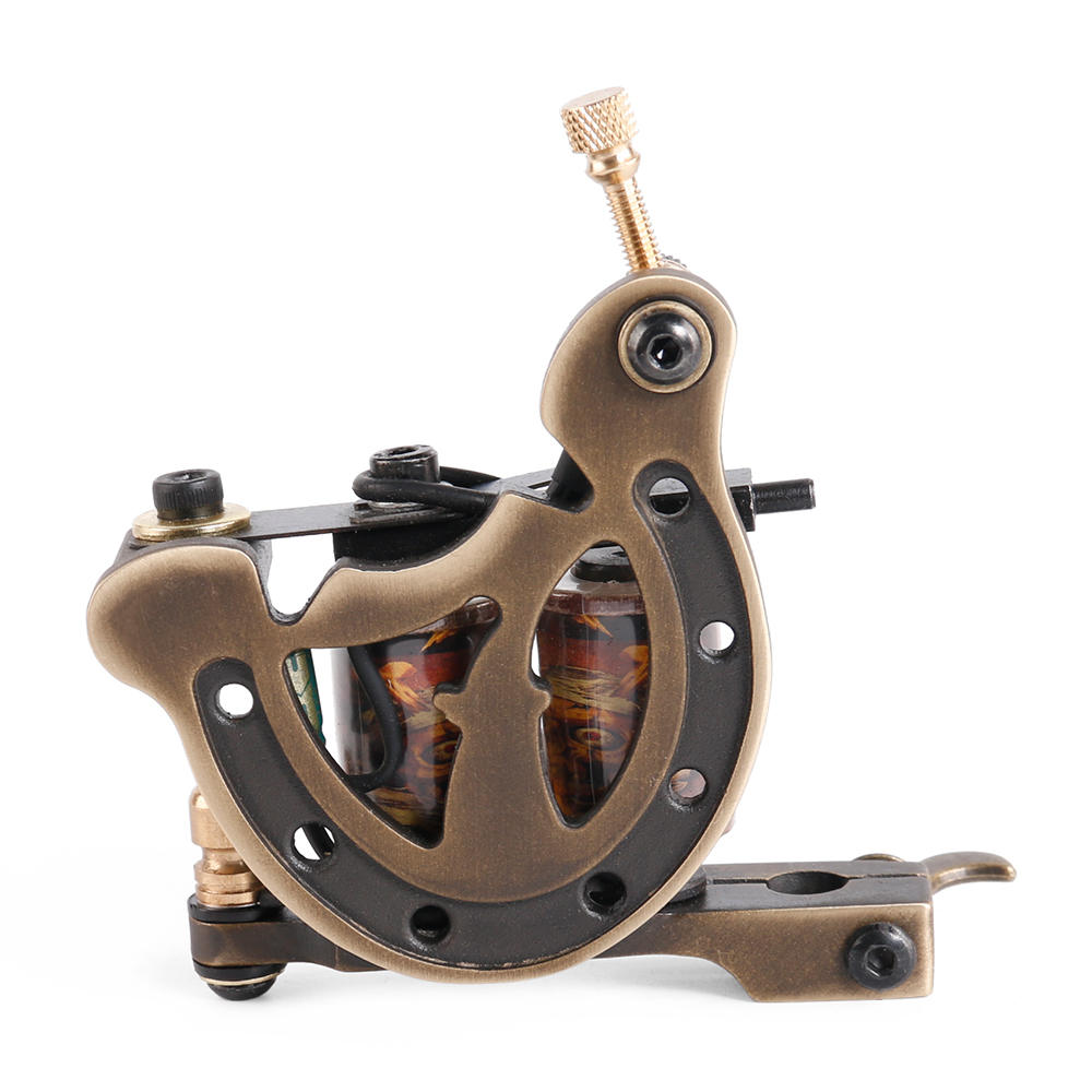 ФОТО Solong Tattoo New Arrival Copper Coils Tattoo Machine Permanent makeup for Machine Handmade 12 Wraps Tattoo Gun Shader Liner