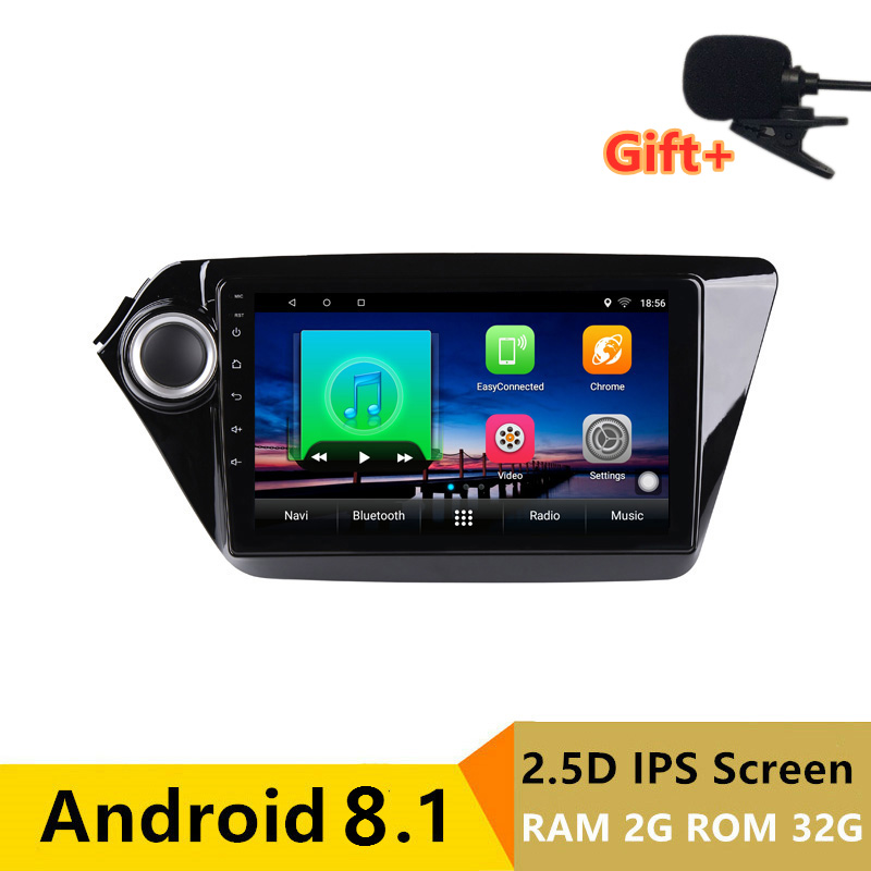"9"" 2+32G 2.5D IPS Android 8.1 Car DVD Multimedia Player GPS for Kia Rio 3 K2 2012 2013 2014 2015 audio radio stereo navigation"