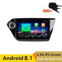 9 2 + 32G 2.5D ips Android 8,1 DVD мультимедиа плеер gps для Kia Rio 3 K2 2012 2013 2014 2015 аудио стерео радио навигации