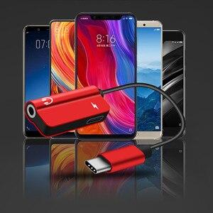 Image 4 - 2 stücke zusammen USB Typ C Audio Kabel Adapter Typ C zu 3,5mm jack Audio Splitter kopfhörer für samsung S9 Huawei Mate20 Xiaomi