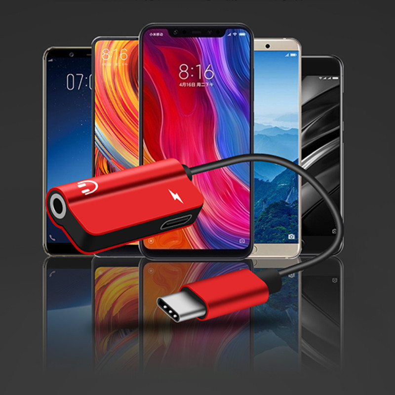 Image 4 - 2pcs together USB Type C Audio Cable Adapter Type C to 3.5mm jack Audio Splitter earphone for Samsung S9 Huawei Mate20 Xiaomi-in Computer Cables & Connectors from Computer & Office
