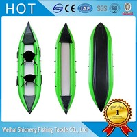 Cheap ocean inflatable kayak pvc/fishing kayak /small canoe for sale with CE!