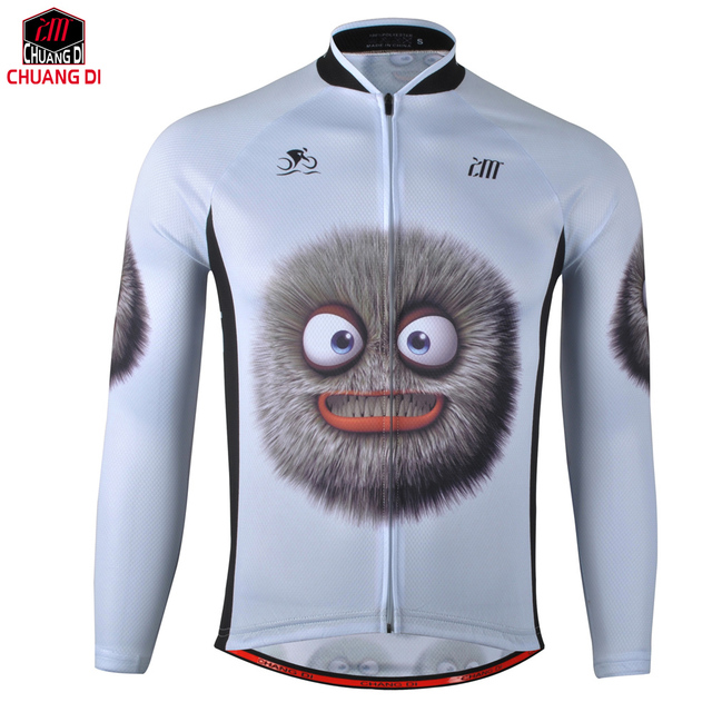 Funny cartoon character Quick Dry Breathable Cycling Jersey Long Sleeve  Spring Men s Shirt Bicycle Wear Racing Tops Cycling daa5ff813