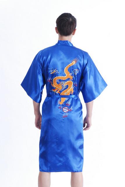 Banho robe vestido pijamas com dragão chinês tradição YF1311