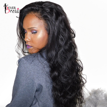 Pre Plucked Full Lace Human Hair Wigs For Women Natural Black 180%Density Brazilian Full Lace Body Wave Wig Non Remy Ever Beauty