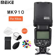 Meike MK 910 MK910 TTL 1/8000 s סנכרון HSS מאסטר וסלייב פלאש speedlite עבור ניקון SB 910 SB 900 D7100 d800 D5500 D750 DSLR מצלמה