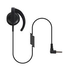 One Pin 3.5mm Audio Plug G-type Listen Only Earpiece Single Ear Earphone for Walkie Talkie Mobile Phone