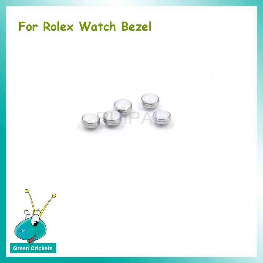 Relógio Moldura Luminosa Pérola Peças de Reposição, Verde/Azul Luminescência Cerâmica Assista Bezel peças para Rlx Assista Bezel