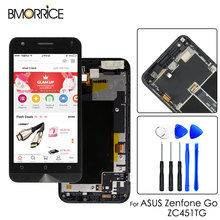 For ASUS Zenfone Go ZC451TG LCD Display Touch Screen Digitizer Assembly Original 4.5'' with Frame Black