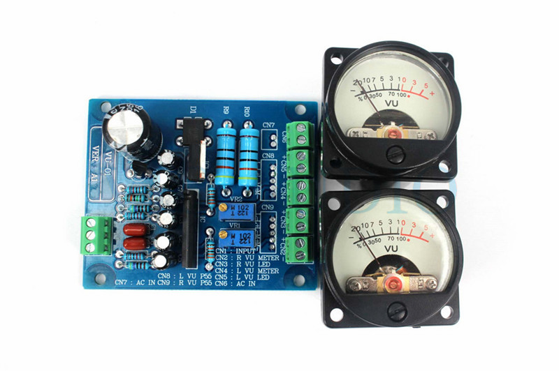DC 6-12V Analog Panel VU Meter Audio Level Meter Blue Backlight No need Driver
