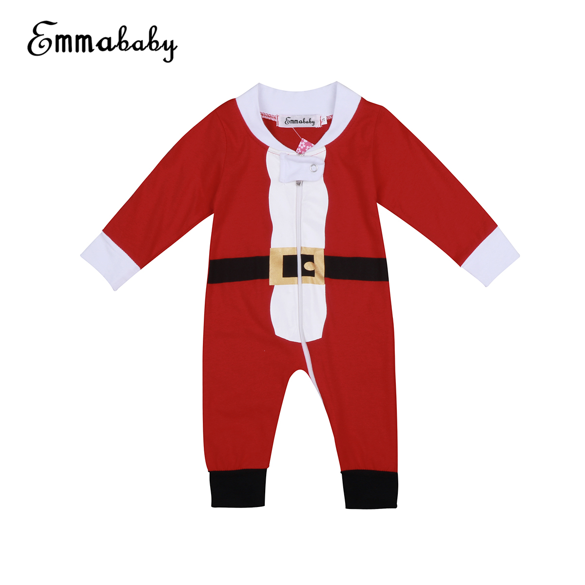 Emmababy XMAS Family Matching Long Sleeve Pajamas Set Santa Adult Kids Sleepwear Nightwear Pyjamas ...