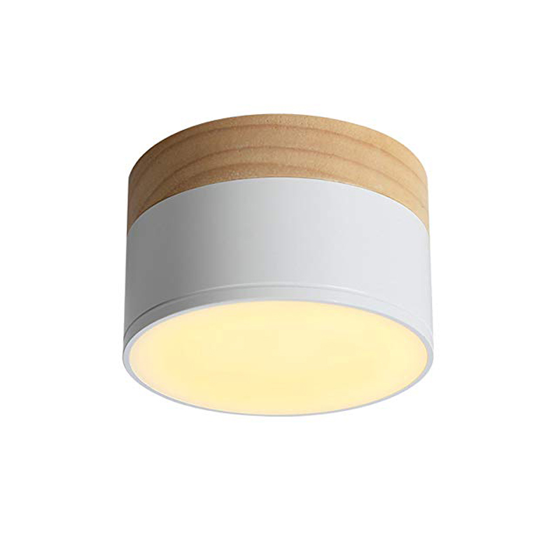 Dimmable LED Flush Mount Downlight, Ceiling Mount Accent Lighting Oak Wood 5W 7W 9W 12W  Ideal For Hallway Gallery Picture 220v