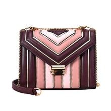 Advanced sense bag female 2019 new  slant single shoulder bag chic chain bag