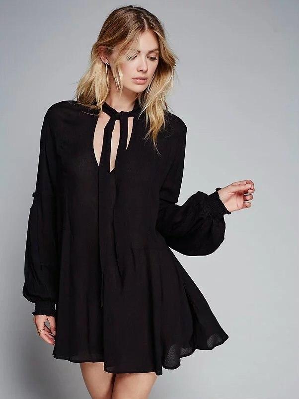 Свободные платье фонарик рукавами