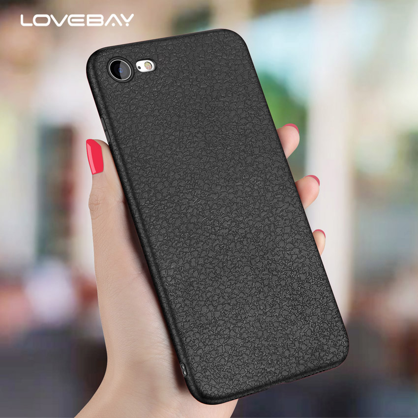 Lovebay Phone Case For iPhone X 8 7 6 6s Plus 5 5s SE Retro Litchi Texture PU Leather Slim Soft TPU Cover Case For iPhone 8 Plus