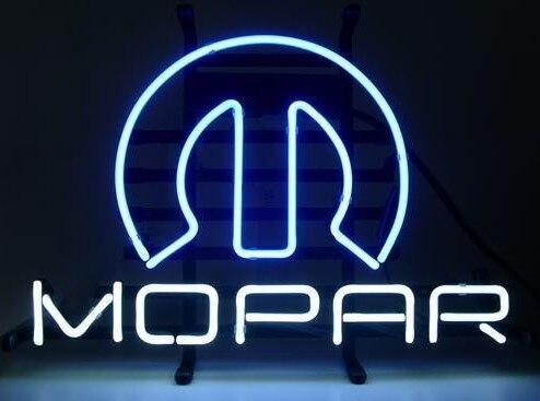 Custom Mopar Glass Neon Light Sign Beer Bar