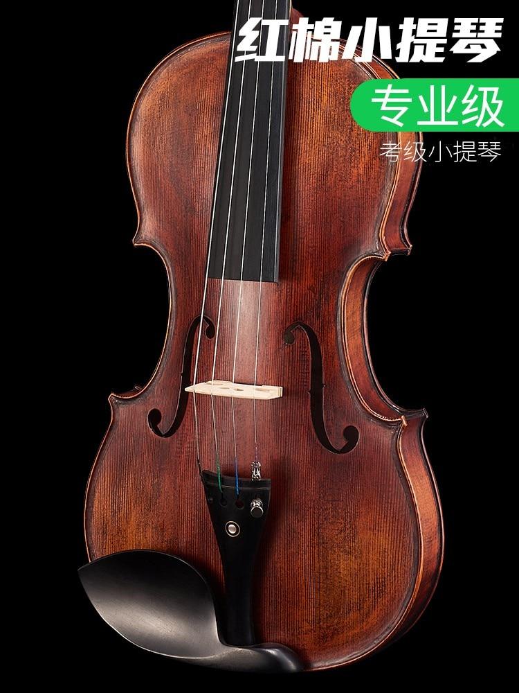 Khmer V268 Violino Principianti Esame Di Qualità Professionale Di Gioco Strumenti Fatti A Mano In Legno Massello Violino Antico Per Adulti