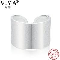 V YA Brand Design 100 Sterling Silver Rings For Women Classic Ringent Ring Vintage Wide Rings